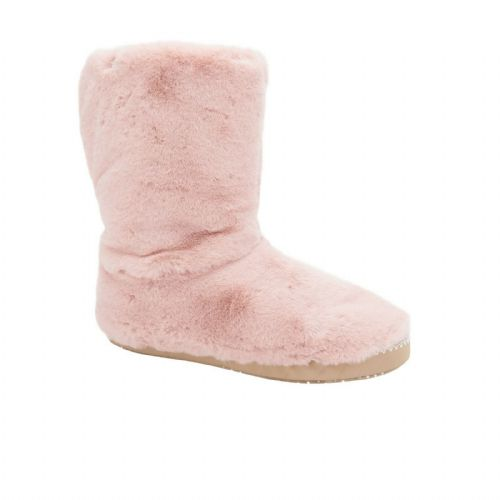 ANIMAL WOMENS SLIPPER BOOTS.BOLLO FLUFFY PINK FURRY FAUX FUR LINED SLIPPERS 9W
